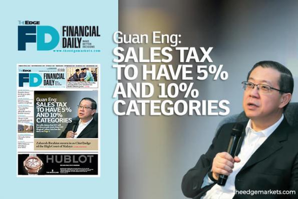 林冠英:销售税分为5%及10%
