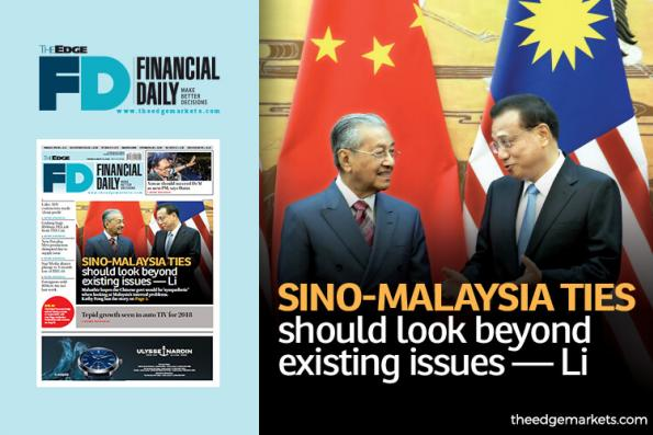 Sino-Malaysia ties should look beyond existing issues — Li