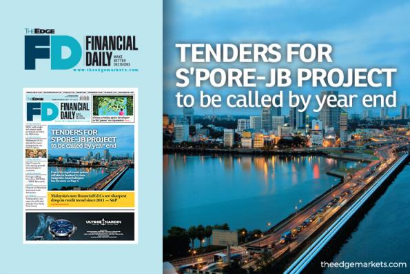Call for S'pore-JB project tenders in 2018