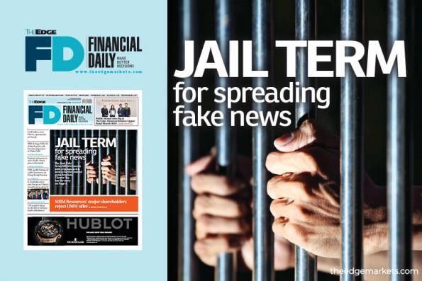 Jail term for spreading fake news