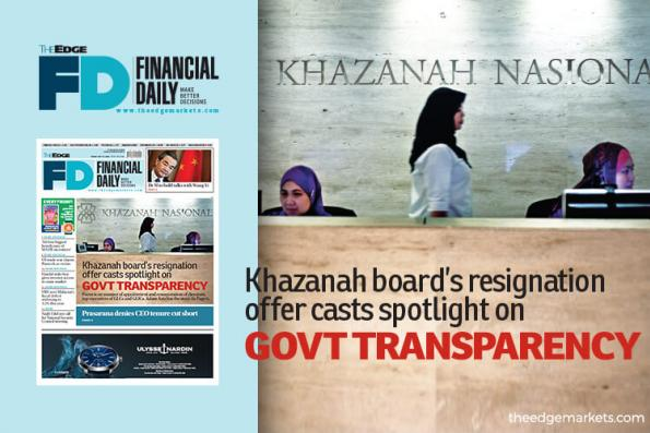 Khazanah board's quit offer casts spotlight on govt transparency
