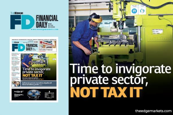 Time to invigorate private sector, not tax it