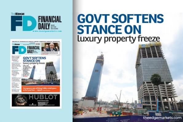 Govt softens stance on luxury property freeze