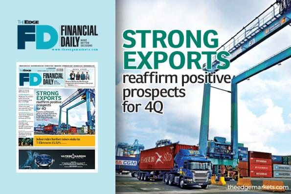 Strong exports reaffirm positive prospects for 4Q
