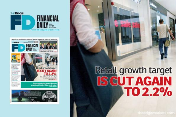 Retail growth target is cut again to 2.2%