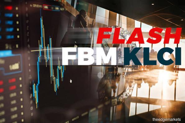 FBM KLCI down 10.62pts at 1,651.34 at 4:15pm