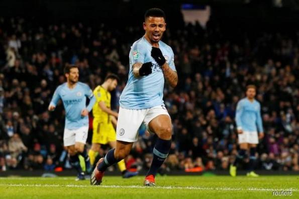 Jesus hits four as City crush Burton 9-0 in League Cup semi-final