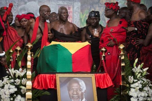 Ghana buries Kofi Annan, hailed as exceptional global leader