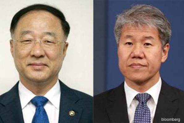 South Korea's Moon axes finance and policy chiefs in reshuffle