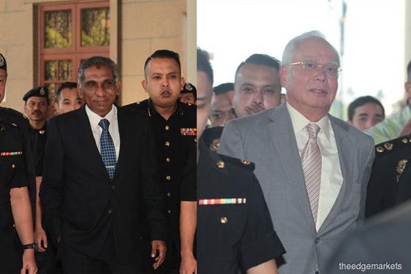 纳吉依尔旺抵达吉隆坡法庭