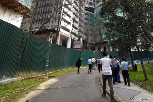 Construction works put Kepong park visitors' lives at risk