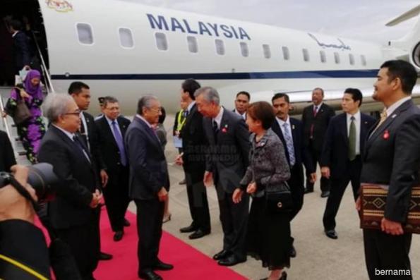 PM Mahathir in Japan for third working visit