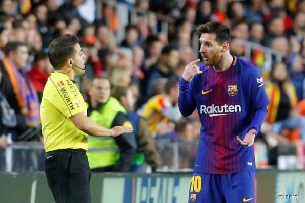 Barca slam referee's decision not to award Messi 'goal'