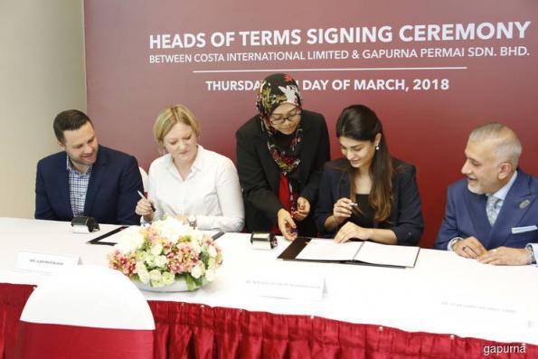 Gapurna Permai inks deal to bring Costa Coffee to Malaysia
