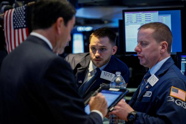 Wall St fades in choppy trade after week's wild start