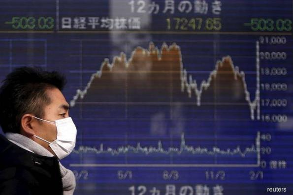 Nikkei edges up as financials rise, momentum slows after extended surge