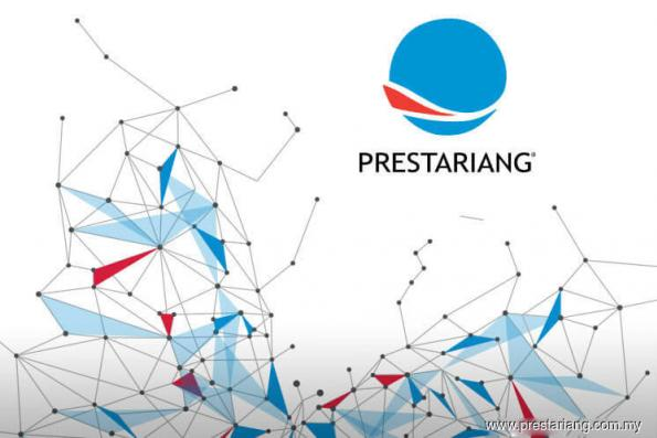Prestariang actively traded, up 15.4% this morning