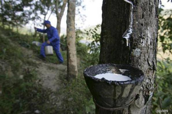 Rubber market ends mostly lower
