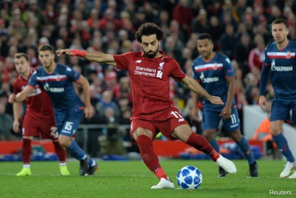Salah strikes twice to make it 50 as Liverpool beat Red Star