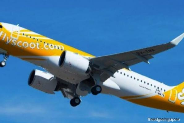 Chapati Party, Scoot's first Airbus A320neo, arrives at Changi