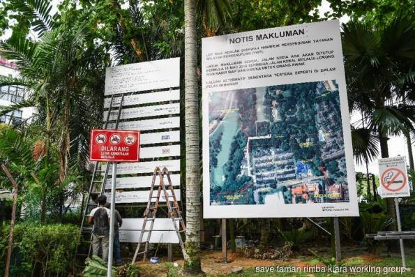 Site-clearing at Taman Rimba Kiara begins to residents' dismay