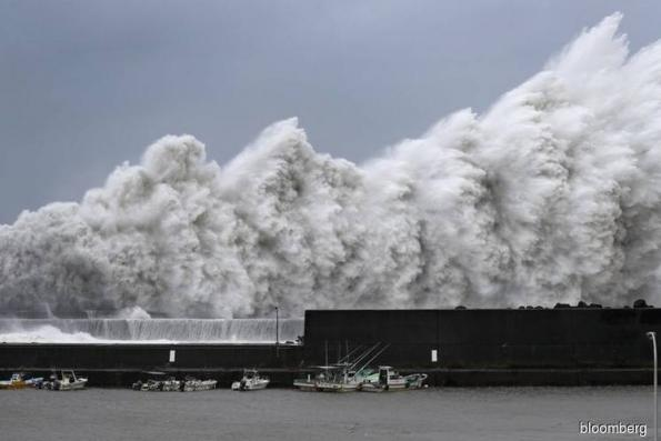 Typhoon Jebi makes landfall in Japan, strongest in 25 years