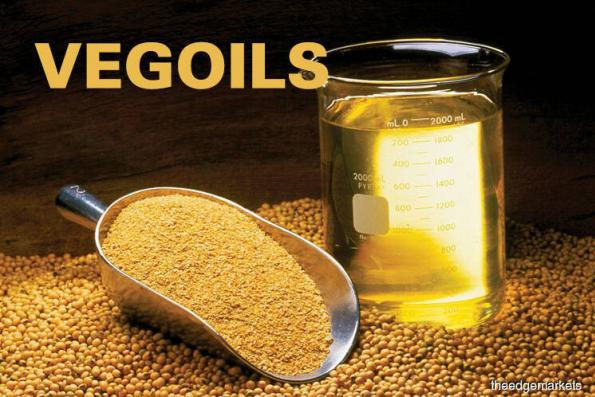 Palm edges up on soyoil gains, weaker ringgit