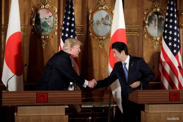 Japan's Abe, Trump agree to keep up pressure on N.Korea