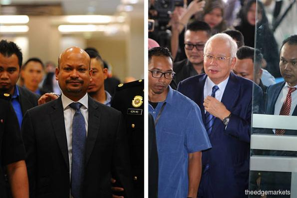 Najib, Arul Kanda arrive at court to face charges
