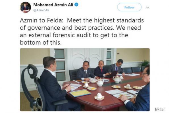 Azmin tells Felda to undertake forensic audit