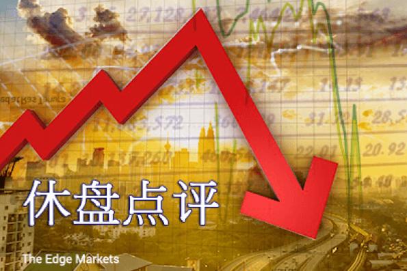 银行股下滑 马股半日跌6.86点