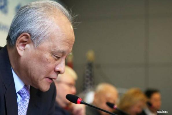 China's US envoy says 'dangerous to advocate confrontation'