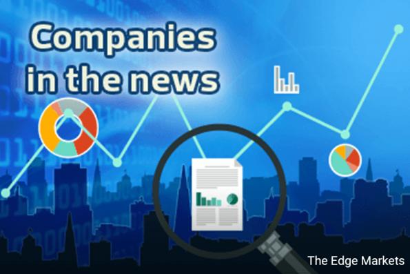 MWE, RHBCap, Boustead, Eversendai, IFCA, EG Industries, Kenanga, Damansara Realty, Mpay, Karex, Heitech Padu, Carlsberg, IWCity, FGV and Taliworks