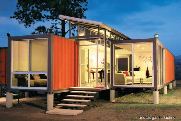 Transforming shipping containers into buildings