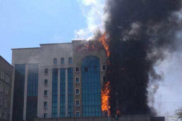 EPF building along PJ's Jalan Gasing catches fire