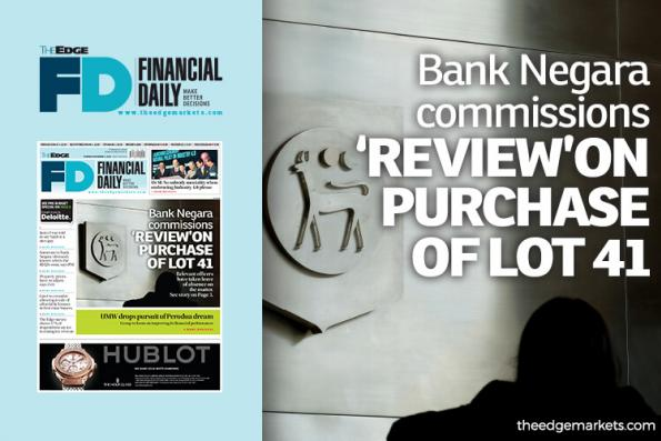 Bank Negara commissions 'review' on purchase of Lot 41