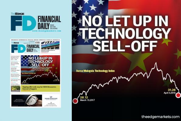 No let up in technology sell-off