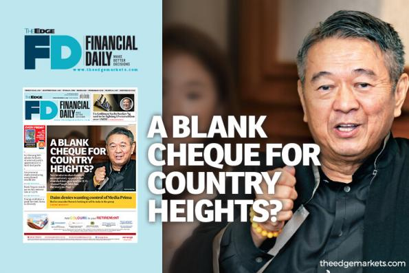 A blank cheque for Country Heights?