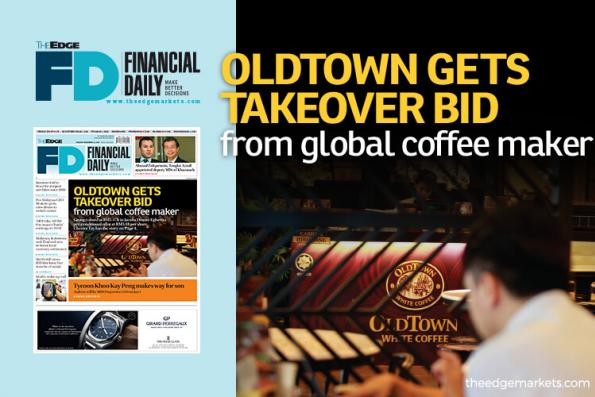 OldTown gets takeover bid from global coffee maker