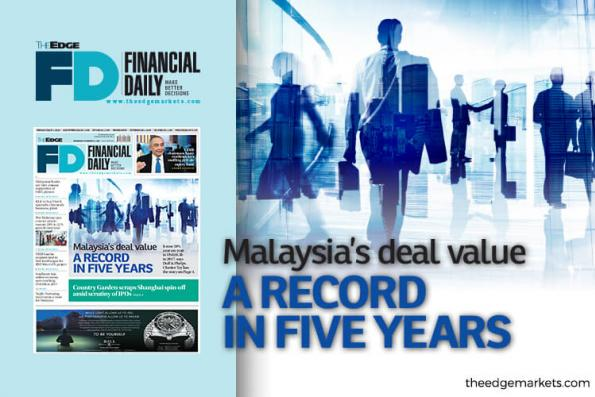 Malaysia's deal value a record in five years