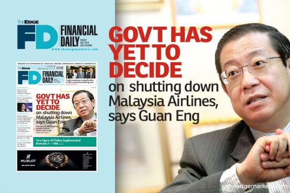 林冠英:政府未决定关闭马航