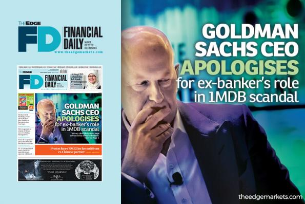 Goldman CEO apologises for Leissner's role in 1MDB scandal