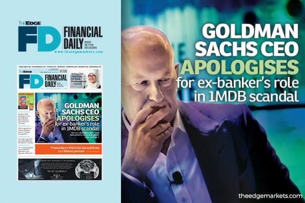 Leissner涉1MDB丑闻 高盛CEO向大马人致歉