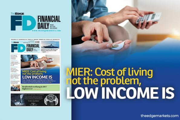 Cost of living not the problem, low income is — MIER
