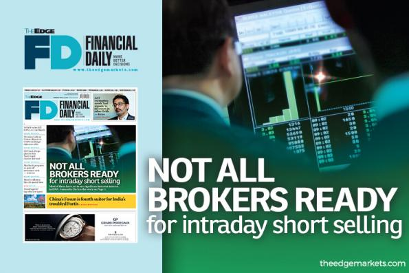 Not all brokers ready for intraday short selling