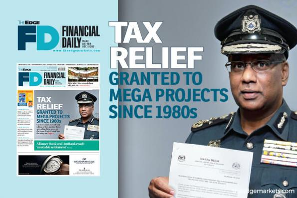 Tax relief granted to mega public projects since 1980s