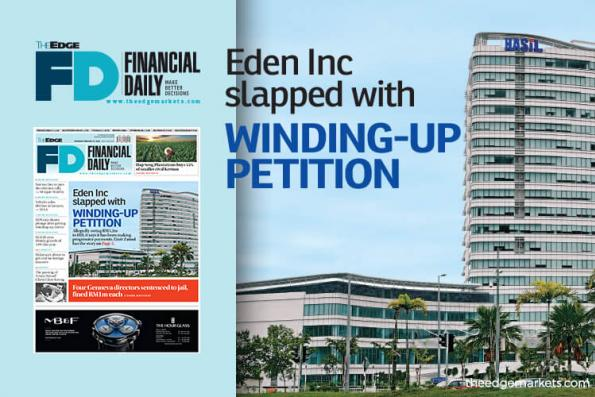Eden slapped with winding-up petition