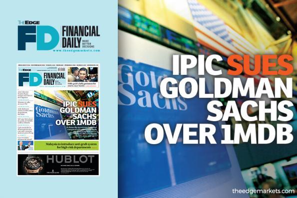 IPIC sues Goldman Sachs over 1MDB