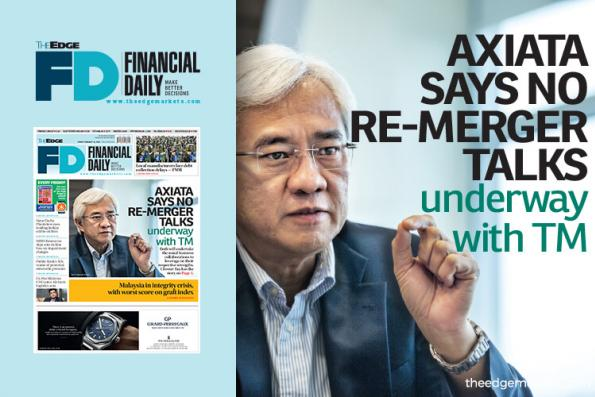 Axiata says no re-merger talks underway with TM