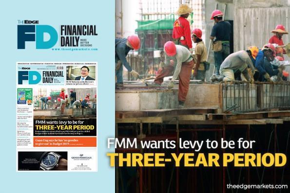 FMM希望每3年征一次外劳人头税